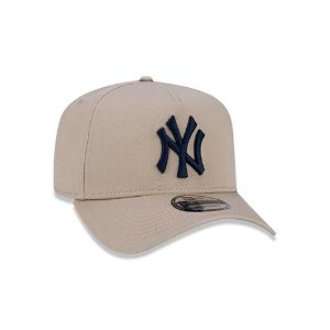 Boné New Era 940 MLB New York Yankees A-Frame Bege