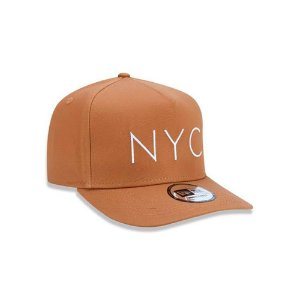 Boné New Era 940 NYC New York City A-Frame Snapback Kaki