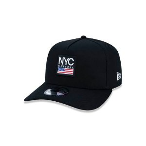 Boné New Era 940 NYC New York City Cities Snapback A-Frame Preto
