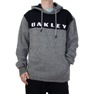 Moletom Oakley Canguru Fechado Crossrange Pullover Light Gray