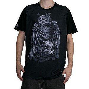 Camiseta Okdok Hunter Owl Preto/Cinza