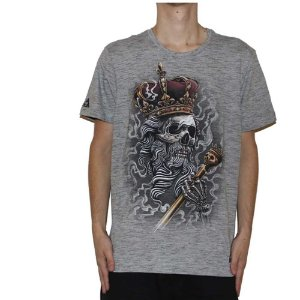Camiseta Okdok Skull Kings Cinza