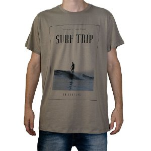 Camiseta Surf Trip Authentic Surf Khaki