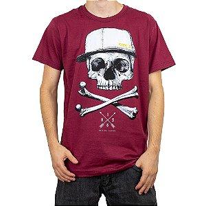 Camiseta Keek's Caveira Vinho