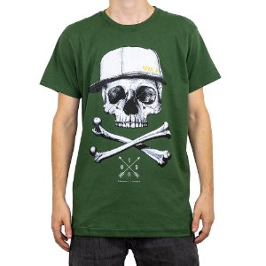 Camiseta Keek's Caveira Verde