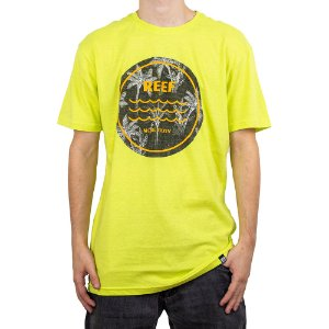 Camiseta Reef Palm Tree Amarelo