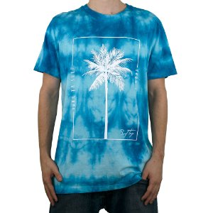 Camiseta Surf Trip Tie Dye Coqueiro Azul