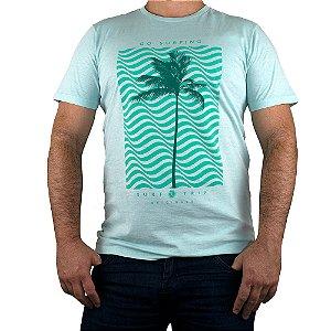 Camiseta Surf Trip Go Surfing Verde Claro