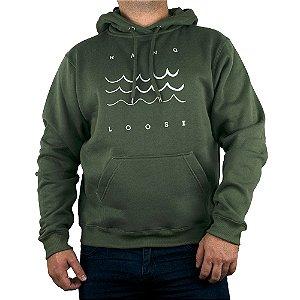 Moletom Hang Loose Canguru Fechado Wave Verde