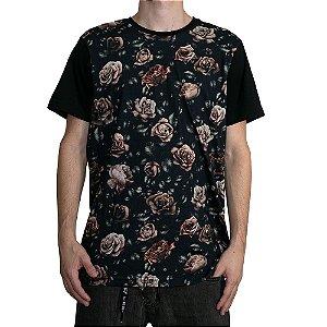 Camiseta Okdok Roses Preto