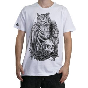 Camiseta Okdok Hunter Owl Branco