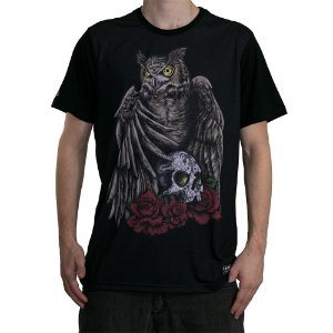 Camiseta Okdok Hunter Owl Preto/Color