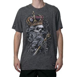 Camiseta Okdok Skull Kings Grafite