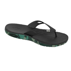 Chinelo Oakley Rest 2.0 Camu Jet Black