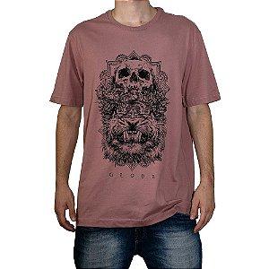 Camiseta Globe Skull Salmão
