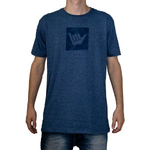 Camiseta Hang Loose Logo Leaves Azul