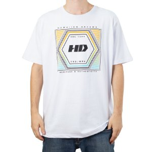 Camiseta HD Hexagonal Branco