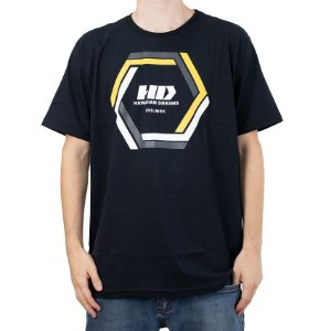 Camiseta HD Hexagonal Preto