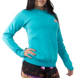 Moletom Roxy Careca Flanelado Good Vibrat Azul