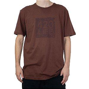 Camiseta 4:20 Life Especial Marrom