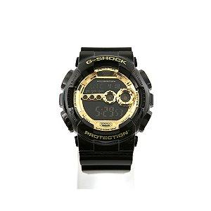 Relógio G-Shock Digital GD-100-1ADR Preto