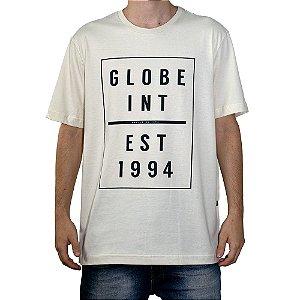 Camiseta Globe Estabilshed 1994 Creme