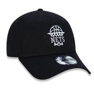 Boné New Era 940 NBA Brooklyn Nets Essentials Cesta Preto