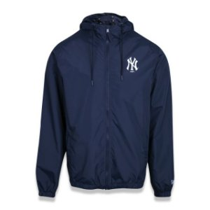 Jaqueta New Era Corta Vento MLB New York Yankees Azul Marinho