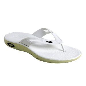 Chinelo Oakley Rest 2.0 Radioactive White