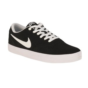 Tênis Nike SB Check Solarsoft Canvas Black/ White