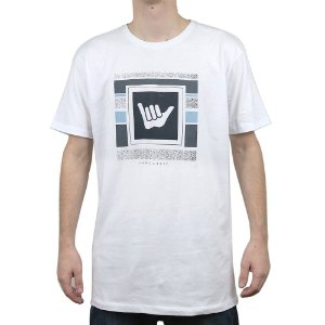 Camiseta Hang Loose Logo Stripe Branco