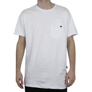 Camiseta Billabong Básica Team Pocket Branco
