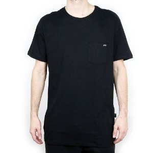Camiseta Billabong Básica Team Pocket Preto