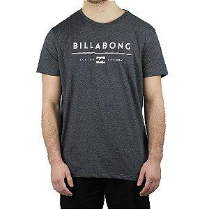 Camiseta Billabong Básica Unity Cinza Escuro