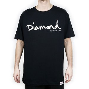 Camiseta Diamond Básica Og Script Black
