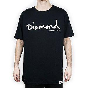 Camiseta Diamond Básica Og Script Black