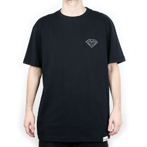 Camiseta Diamond Básica Brilliant Black