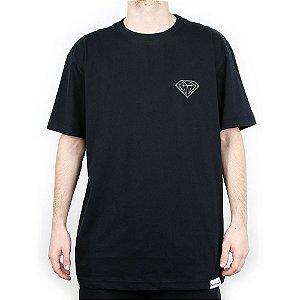 Camiseta Diamond Básica Brilliant Black
