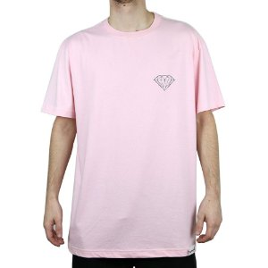 Camiseta Diamond Básica Brilliant Pink
