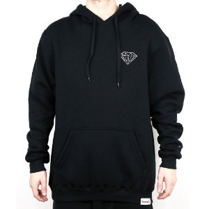 Moletom Diamond Canguru Fechado Og Brilliant Hoodie Black