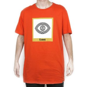 Camiseta Element Básica Glimpse Laranja