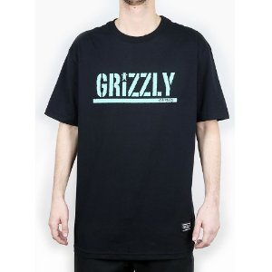 Camiseta Grizzly Básica Stamped Black