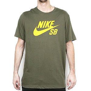 Camiseta Nike SB Dri Fit Logo Skate Olive