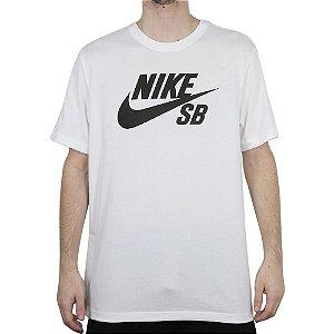 Camiseta Nike SB Dri Fit Logo Skate White