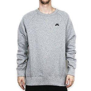 Moletom Nike SB Careca Icon Crew Fleece Mixed Gray
