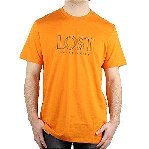 Camiseta Lost Básica Essential Laranja