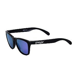 Óculos Oakley Frogskins Matte Black Violet Iridium