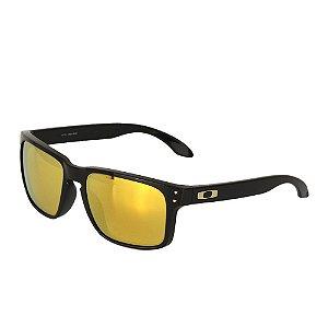 Óculos Oakley Holbrook Polished Black Brown Orange 24K