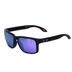 Óculos Oakley Holbrook Matte Black Violet Iridium
