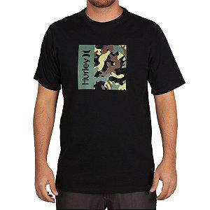 Camiseta  Hurley Silk O&O Camo Box Preto